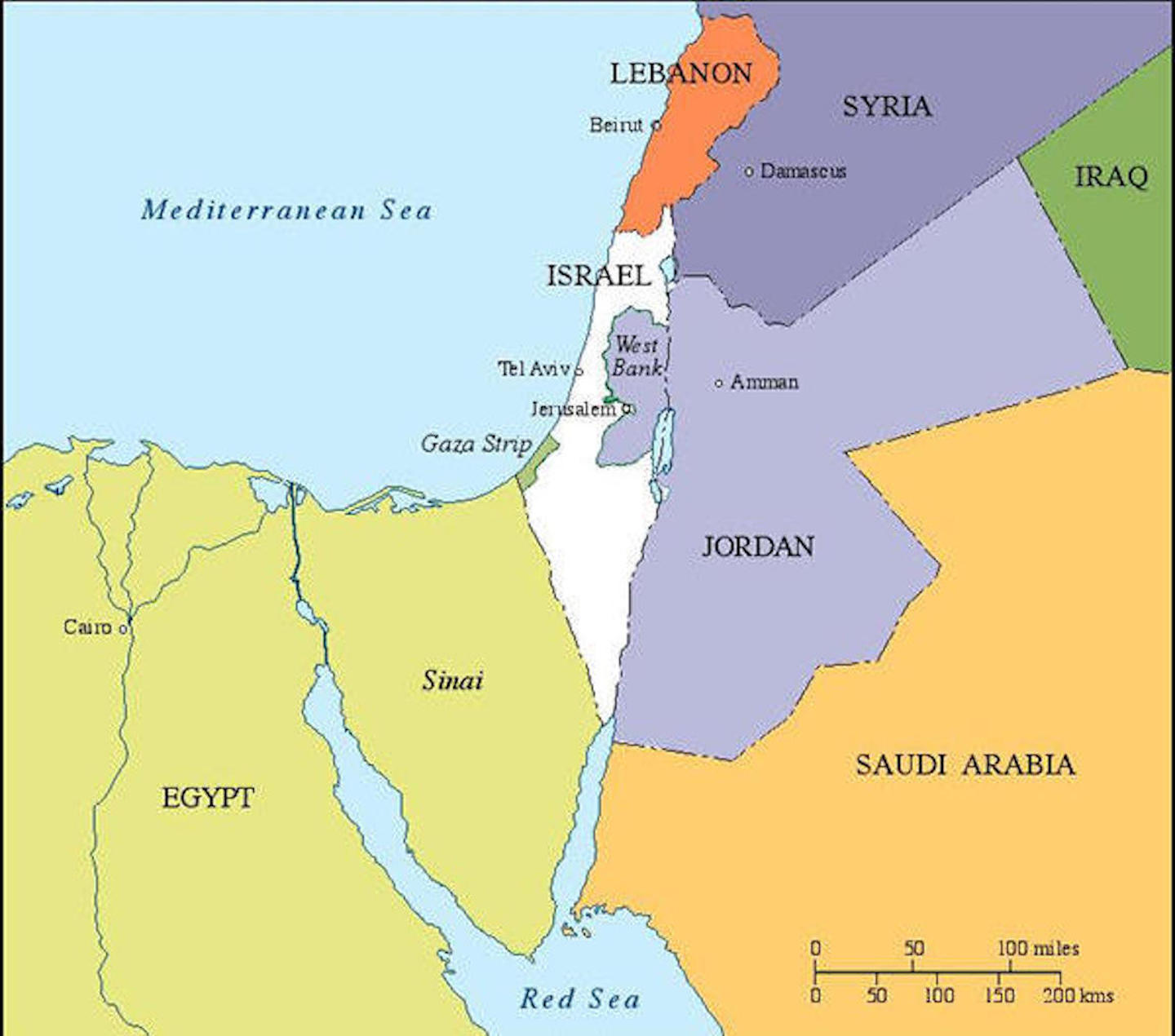 Israel Maps CIE - Israel map