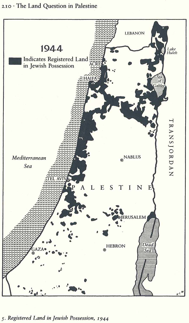 Registered Land in Jewish Possession, 1944