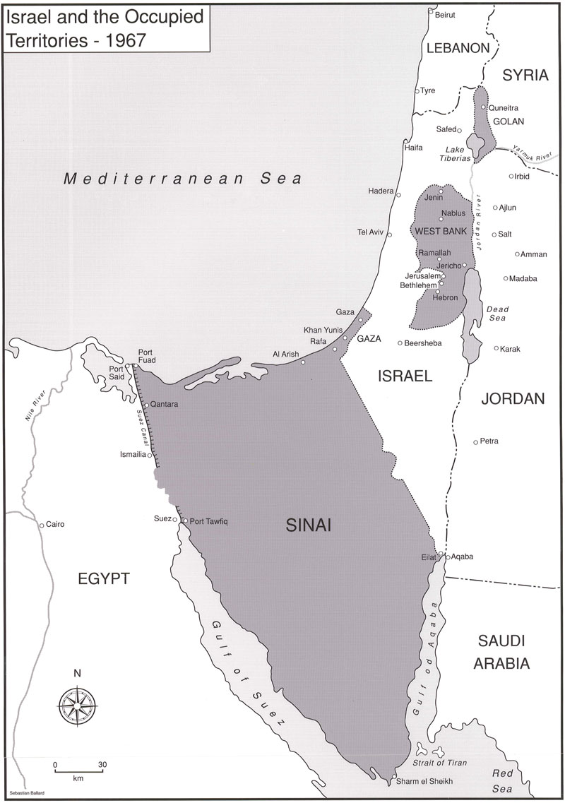 Israel and the Occupied Territories, 1967