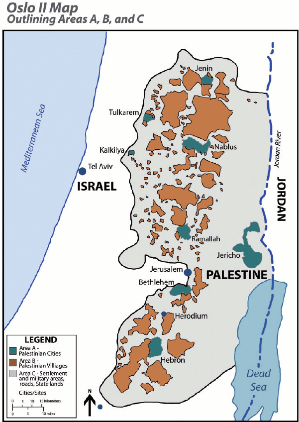 West Bank Areas A, B and C – How Did They Come into Being?