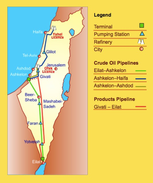 Oil Flows From Eilat to Haifa