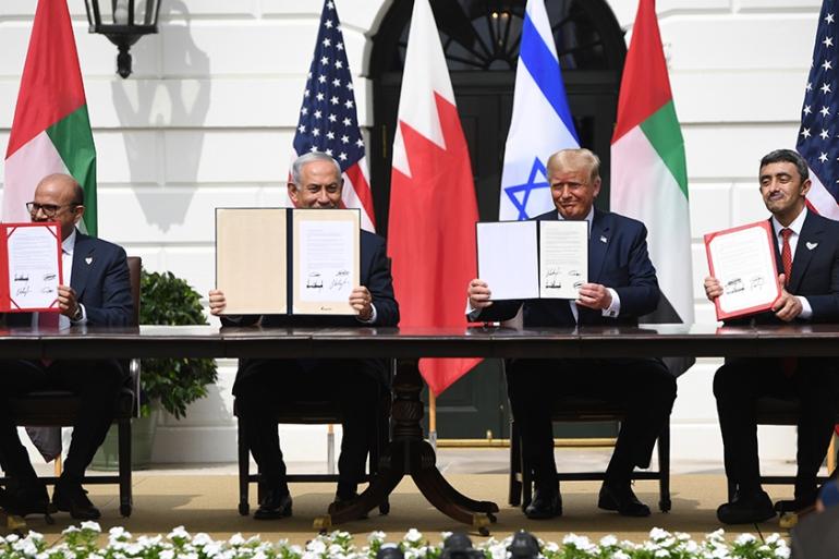 The Abraham Accords- US, UAE, Israel and Bahrain